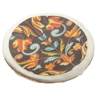 elegant abstract swirls fall home decor fall sugar cookie