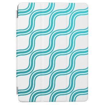 Elegant Abstract Teal Waves Pattern iPad Air Case