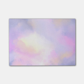 Elegant Abstract Watercolor Cosmic Space Design Post-it Notes