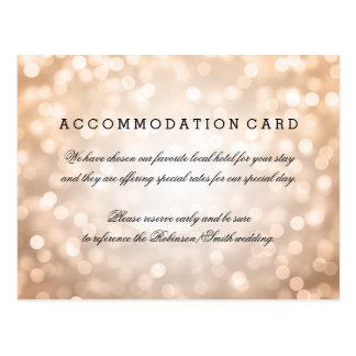 Elegant Accommodation Copper Glitter Lights Postcard