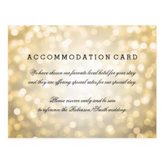 Elegant Accommodation Gold Glitter Lights Postcard