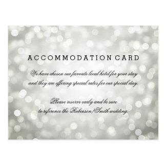 Elegant Accommodation Silver Glitter Lights Postcard