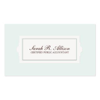 Elegant Accountant Plaque Style Light Blue Business Card