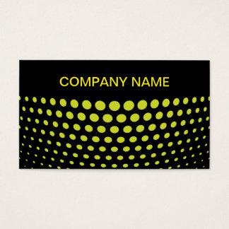 Elegant Acid green Polka Dot Pattern Business Card