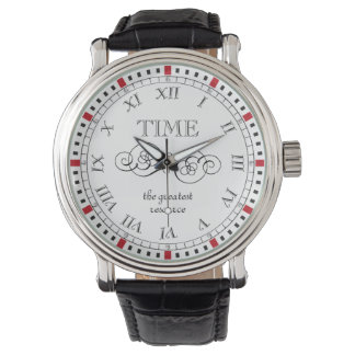 Elegant Add Your Own Message Reflections on Time Wristwatch