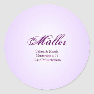 Elegant address stickers in purple for your