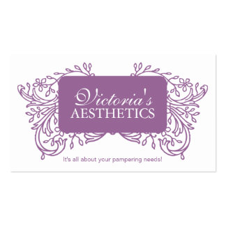 Elegant Aesthetician Business Card