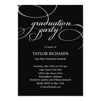 Elegant Affair Graduation Party Invitation Custom Invites