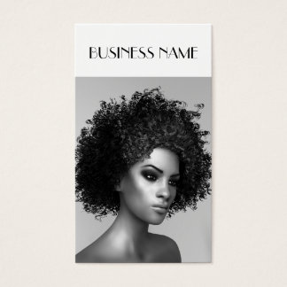 Elegant Afro Hair Business Card