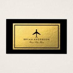 Elegant Airplane Business Card at Zazzle