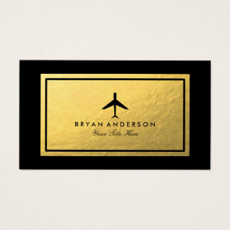 Elegant Airplane Business Card
