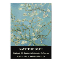 "Elegant ""Almond Blossom"" Save the Date Card"
