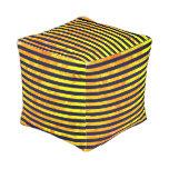 Elegant amber ant stripes pattern pouf