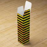 Elegant amber ant stripes pattern wine gift box