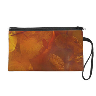 Elegant amber pattern wristlet clutch