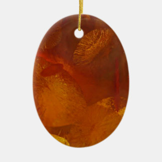 Elegant amber pattern ceramic ornament