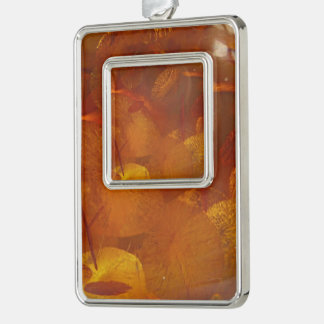 Elegant amber pattern christmas ornament