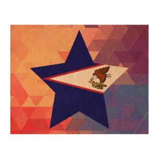 Elegant American Samoa flag heart Cork Paper