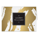 Elegant and Abstract Gold Brushstrokes II Notecard