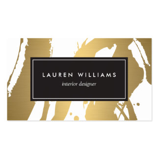Elegant and Abstract Gold Brushstrokes III Double-Sided Standard Business Cards (Pack Of 100)
