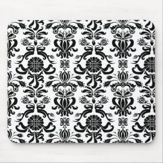 Elegant and Beautiful Black Baroque Mouse Pad