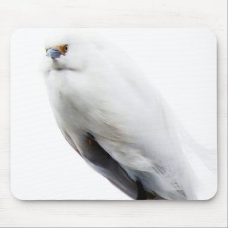 Elegant and Beautiful Snowy Egret Mouse Pad