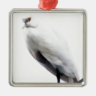 Elegant and Beautiful Snowy Egret Christmas Tree Ornaments
