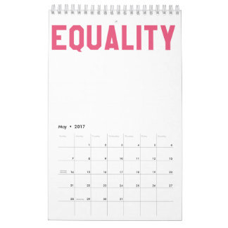 Elegant and Beautiful Typography || EQUALITY Calendar