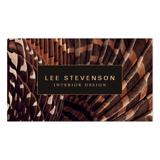 Elegant and Chic Earthy Bohemian Interior Designer Business Cards