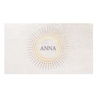 Elegant and Chic Simple Name Gold Circle Logo Business Card