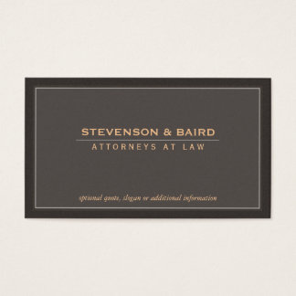 Elegant and Classic Corporate Professional Business Card