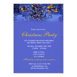 Elegant and classic vintage Christmas holiday 5x7 Paper Invitation Card