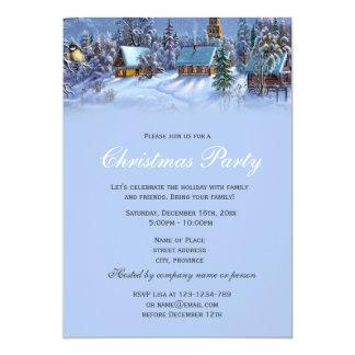 Elegant and classic vintage Christmas holiday Invitations