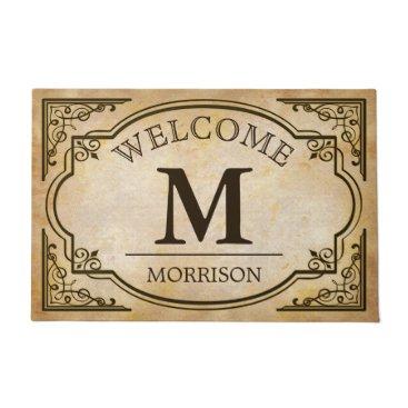 CardHunter Elegant and Classic Vintage Look Monogram Initials Doormat