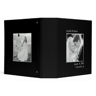 Elegant And Classic Wedding Photo Album Vinyl Binder