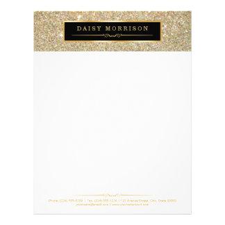 Elegant and Classy Gold Glitter Sparkles Letterhead