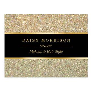 Elegant and Classy Gold Glitter Sparkles Postcard
