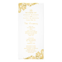 Elegant and Classy Gold Lace Wedding Program
