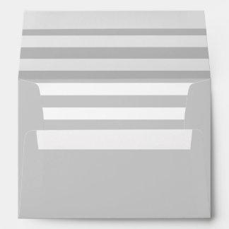 Elegant and Classy Grey and White Stripes Envelope