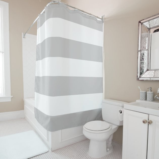 Classy Shower Curtain elegant and classy light grey and white stripes shower curtain