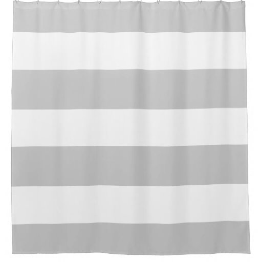Elegant And Classy Light Grey And White Stripes Shower