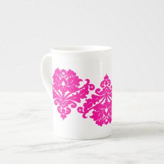 Elegant and classy victorian damask motif fuschia tea cup