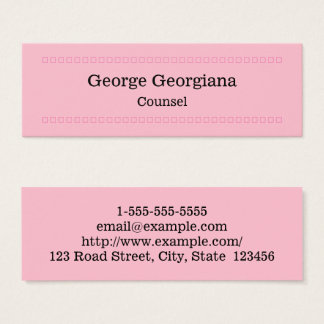 Elegant and Clean Counsel Business Card