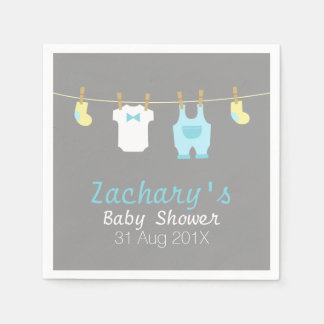 Elegant and Cute Baby Boy Clothes, Baby Shower Napkin