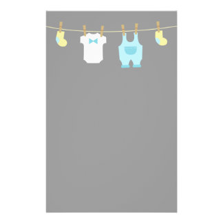 Elegant and Cute Baby Boy Clothes Stationery