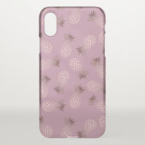 Elegant and cute rose gold pineapple pattern iPhone x case