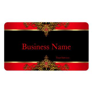 Elegant and Elite Regal Red Black and Gold Gem Business Card