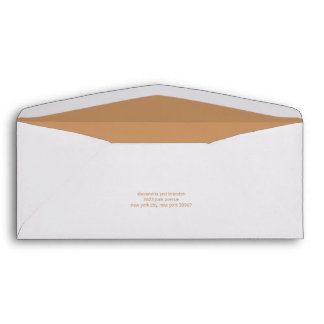 Elegant and Fresh Wedding Envelope