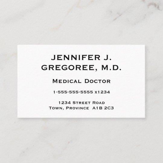 Elegant And Minimal Medical Doctor Business Card