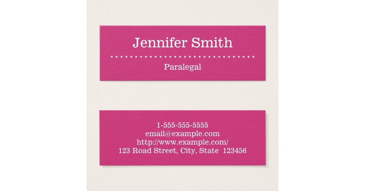 Elegant and Minimal Paralegal Business Card   Zazzle.com